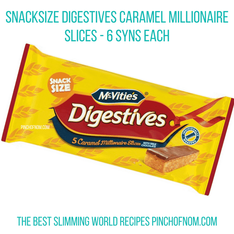digestive caramel millionaire slices - pinch of nom slimming world essentials may 2017