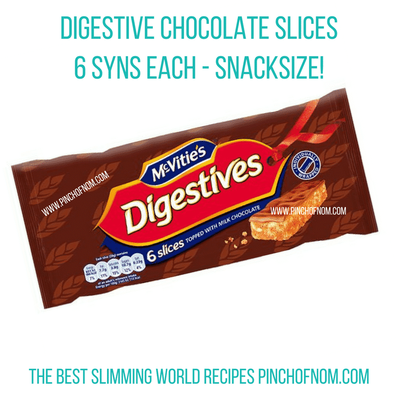 digestive chocolate slices - New Slimming World Shopping Essentials - 25:5:17