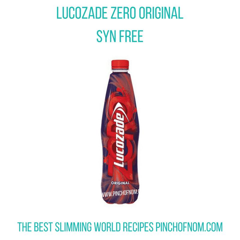 lucozade original zero - pinch of nom slimming world shopping essentials may