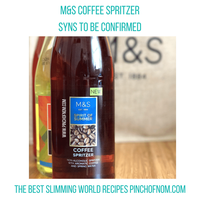 mands coffee spritzer - pinch of nom slimming world shopping essentials may