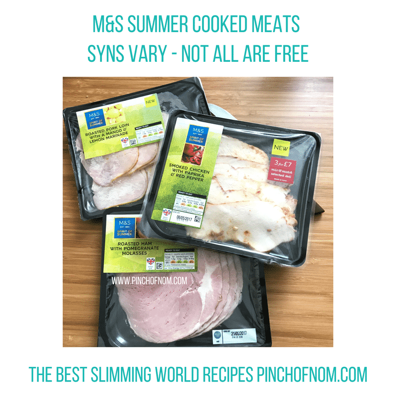 mands cooked meats - pinch of nom slimming world shopping essentials may