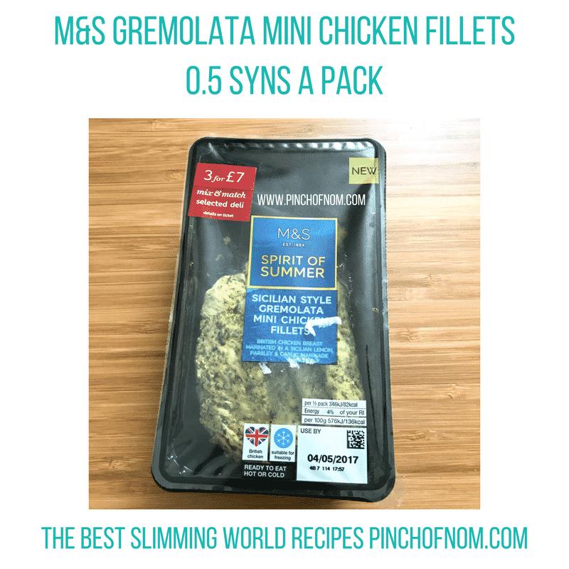 mands gremolata chicken - pinch of nom slimming world shopping essentials may