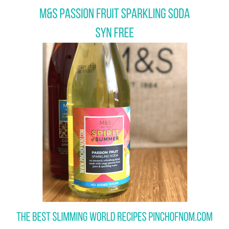 mands passionfruit drink - pinch of nom slimming world shopping essentials may