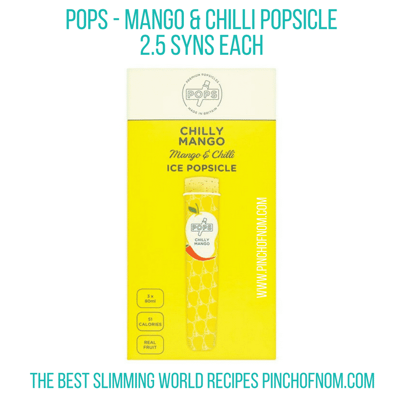 mango and chilli pops - New Slimming World Shopping Essentials - 25:5:17
