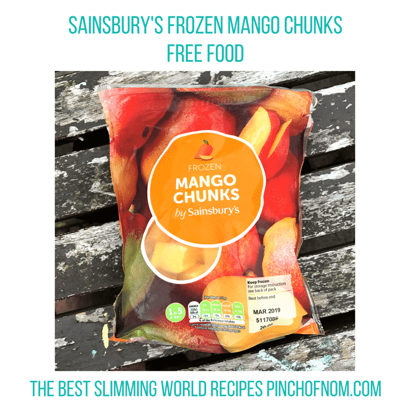mango frozen - pinch of nom slimming world essentials may 2017