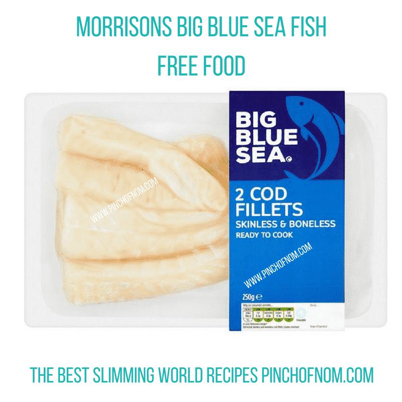 morrisons big blue sea fish cod - New Slimming World Shopping Essentials - 25:5:17