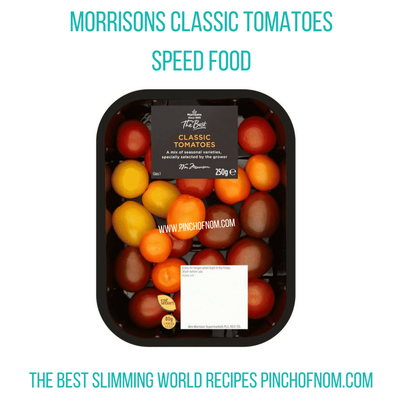 morrisons tomatoes - pinch of nom slimming world shopping essentials may