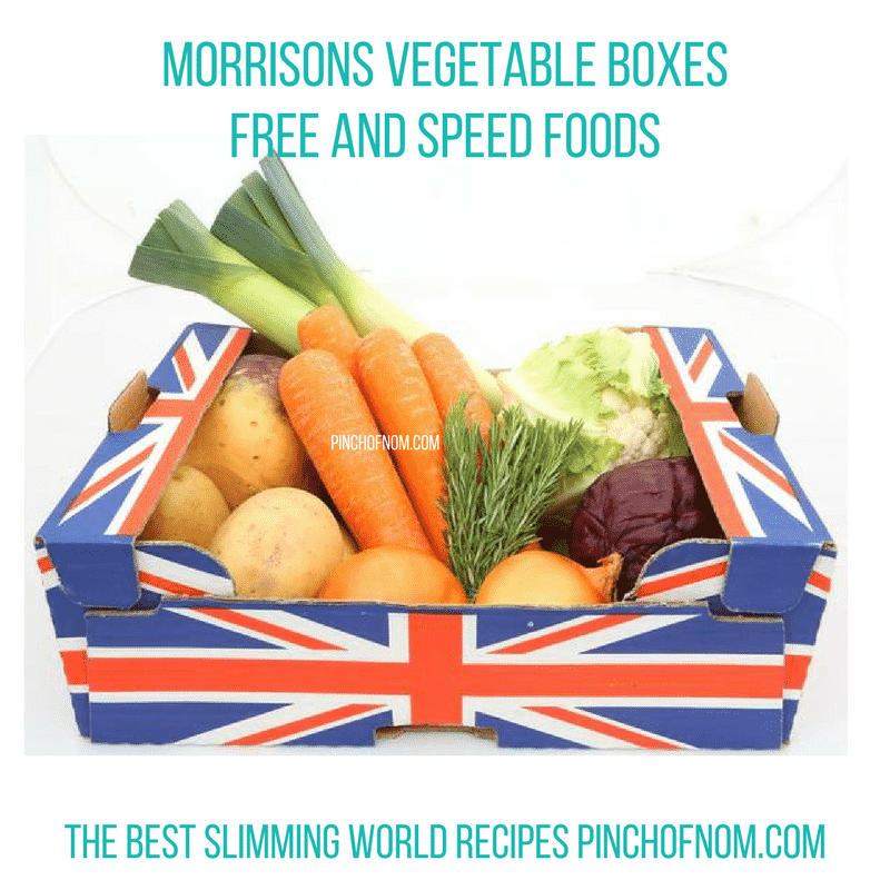 morrisons vegetable boxes - pinch of nom slimming world essentials may 2017