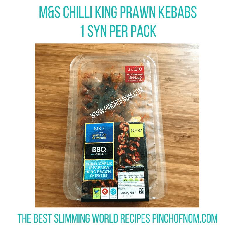 m&s chilli prawn kebabs - New Slimming World Shopping Essentials - 25:5:17
