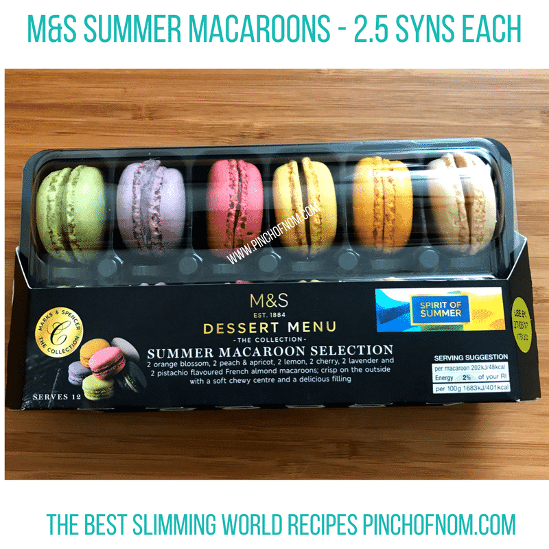 m&s summer macaroons - New Slimming World Shopping Essentials - 25:5:17