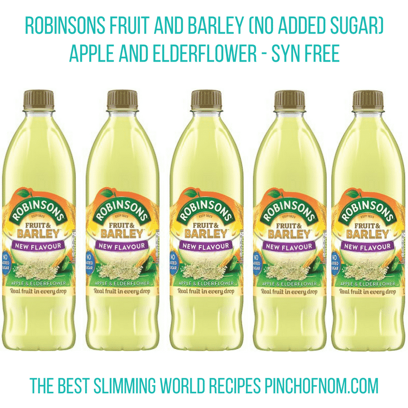 robinsons apple and elderflower cordial - pinch of nom slimming world essentials may 2017