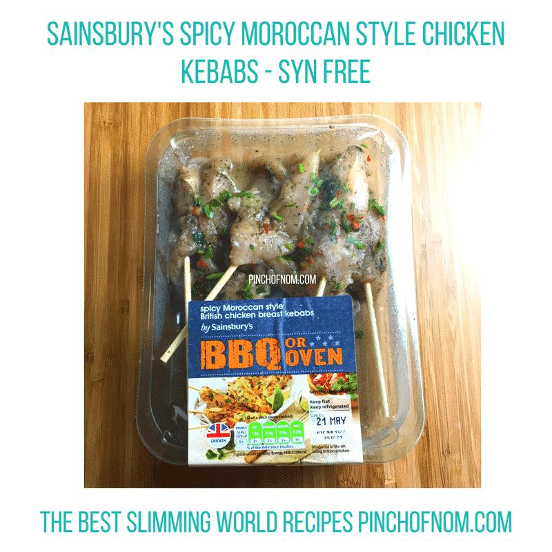 sainsburys chicken kebabs - pinch of nom slimming world essentials may 2017