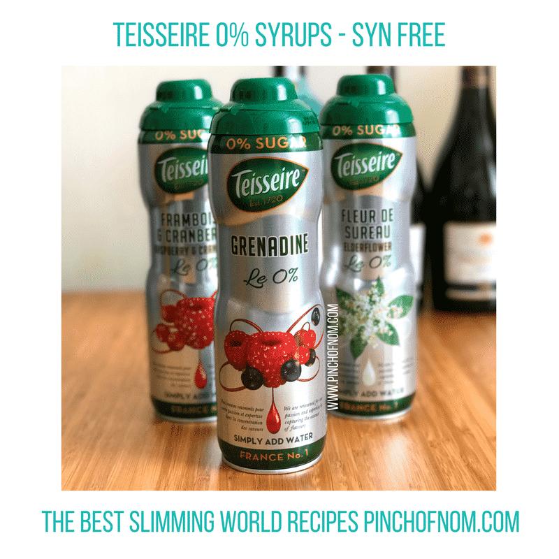 teisseire grenadine - New Slimming World Shopping Essentials 25517-1