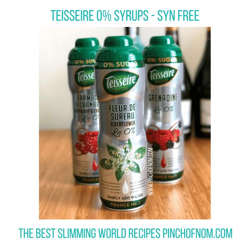 teisseire elderflower - New Slimming World Shopping Essentials 25517-1