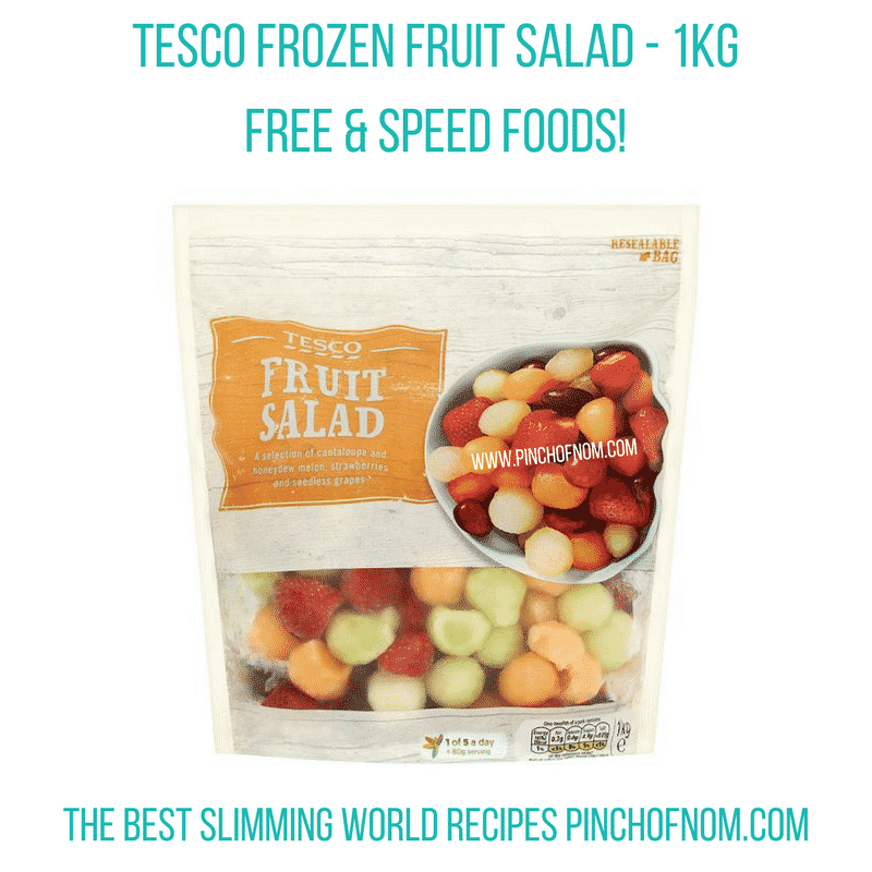 tesco fruit salad 1kg - pinch of nom slimming world shopping essentials may