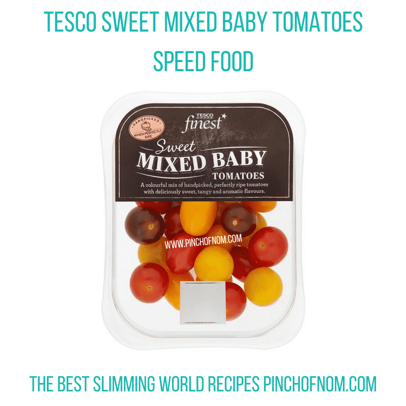tesco mixed tomatoes - pinch of nom slimming world shopping essentials may