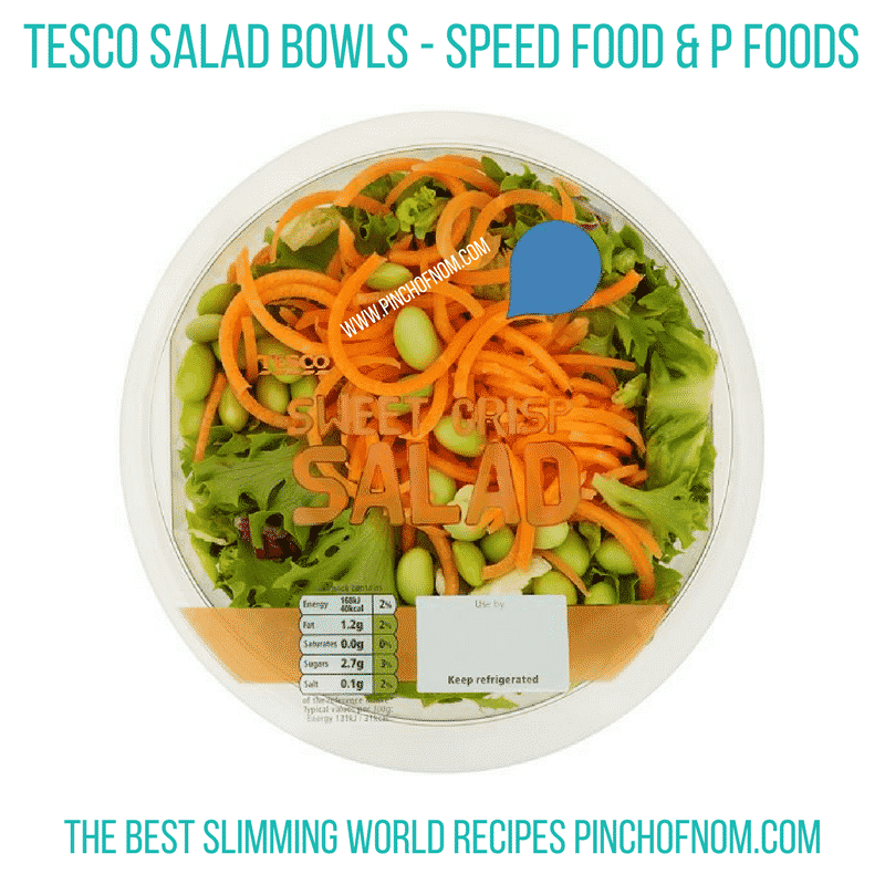 tesco salad bowl - sweet and crunchy - New Slimming World Shopping Essentials - 25:5:17
