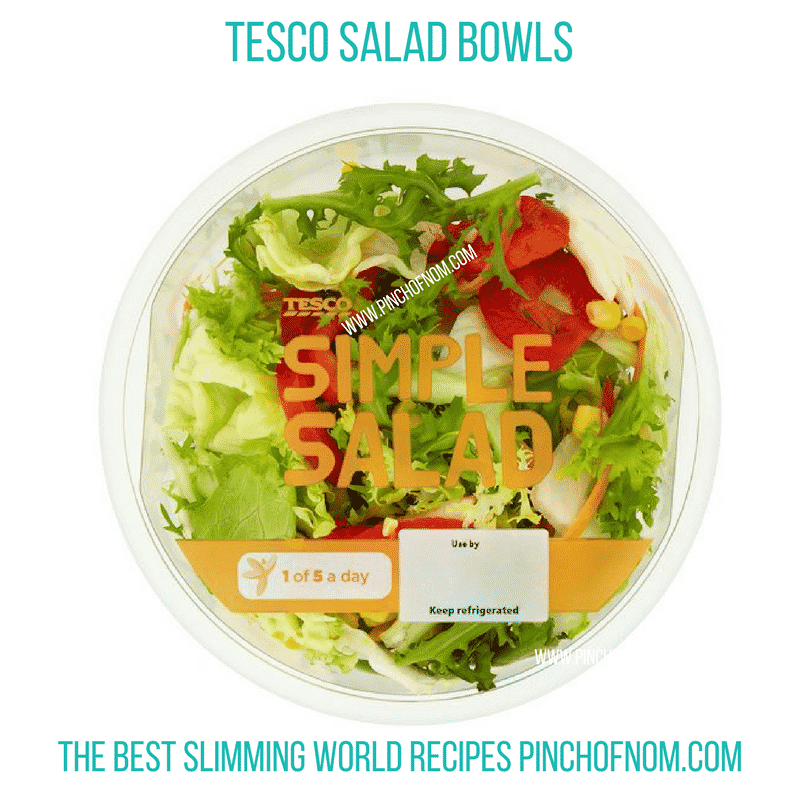 tesco simple salad bowl - New Slimming World Shopping Essentials - 25:5:17