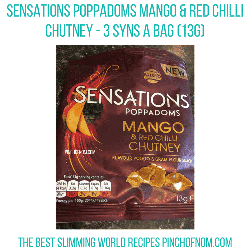 walkers sensations poppadoms - 3 syns - pinch of nom slimming world essentials may 2017