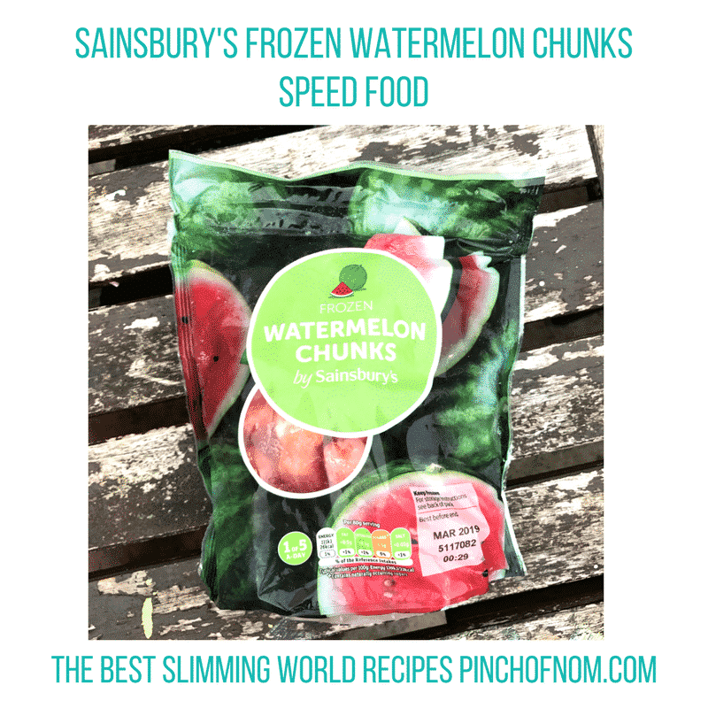 watermelon chunks - pinch of nom slimming world essentials may 2017