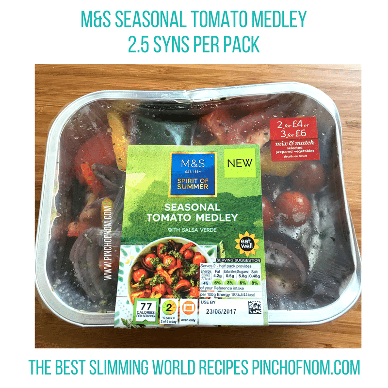m&s seasonal tomato medley New Slimming World Shopping Essentials