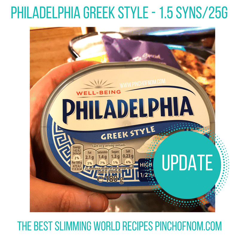 Greek Style Philadelphia New Slimming World Shopping Essentials