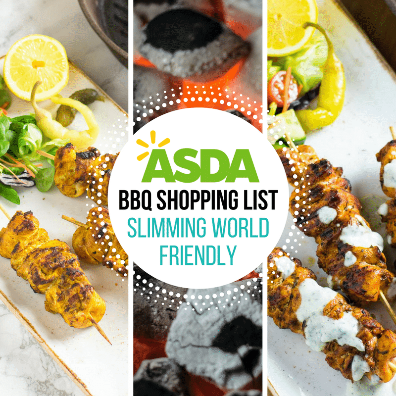 Asda bbq shopping list slimming world friendly pinch One you slimming world