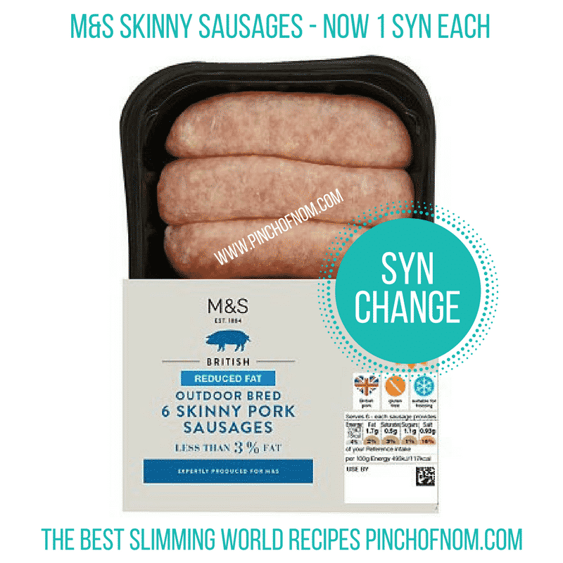 M and s skinny sausages New Slimming World Shopping Essentials