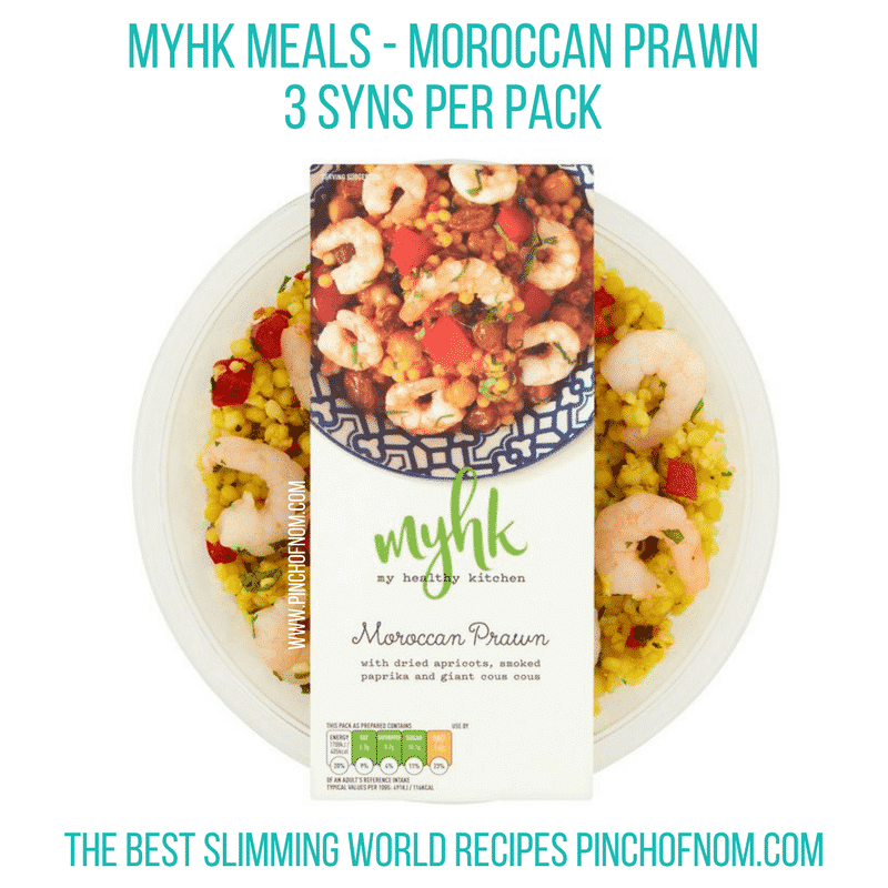 My Healthy Kitchen Ready Meals Review | Slimming World - moroccan prawn