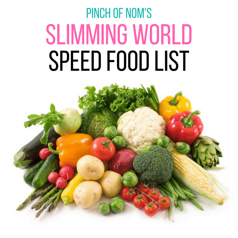 Slimming World Speed Food List