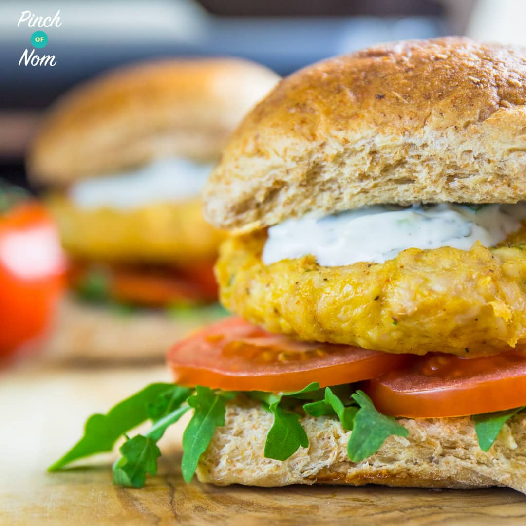 Slimming World Syn Free Tikka Turkey Burgers - featured-1