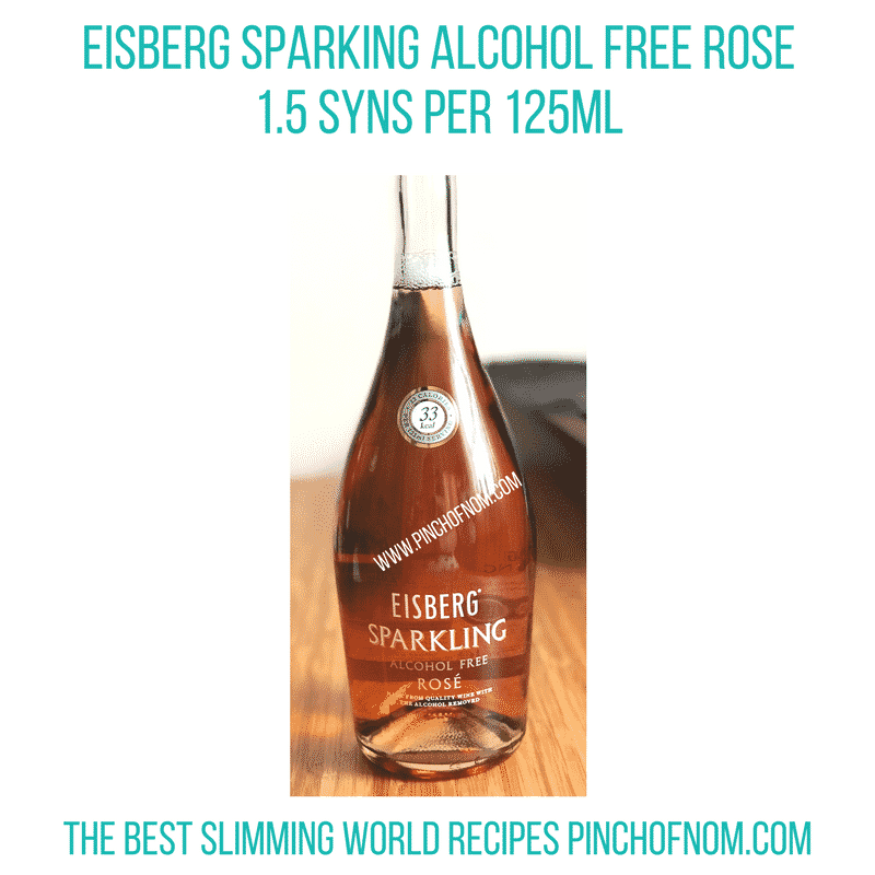 alcohol free sparkling rose - new Slimming World shopping essentials