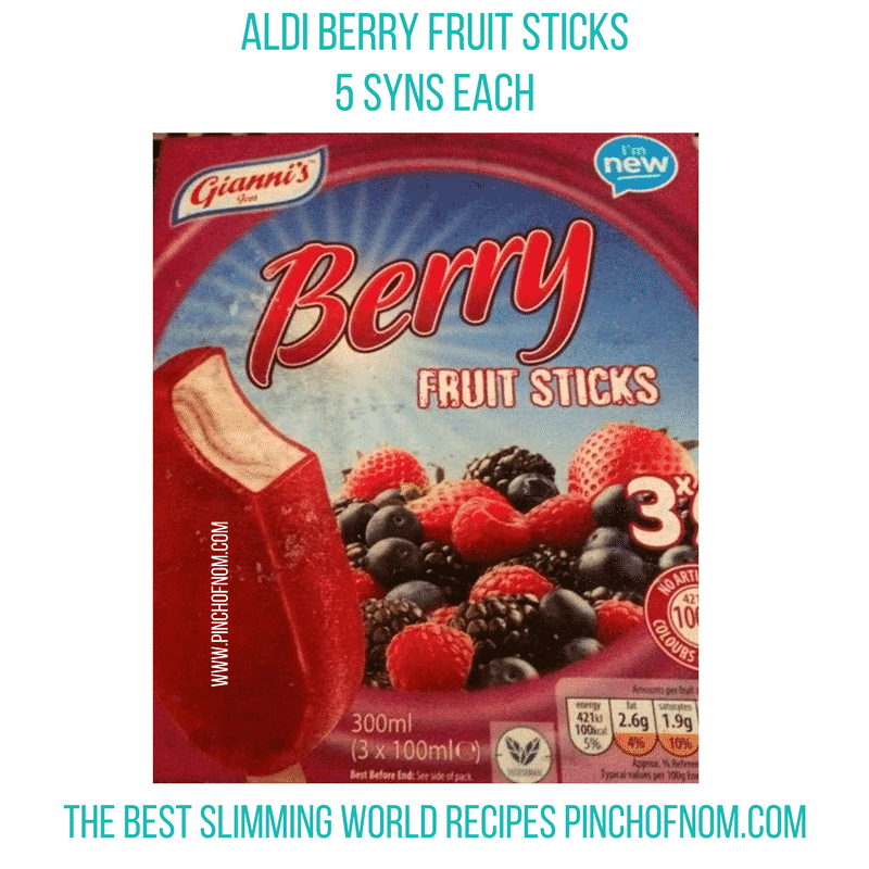 aldi berry fruit sticks New Slimming World Shopping Essentials