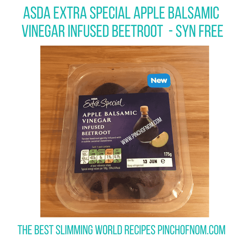 asda apple balsamic beetroot New Slimming World Shopping Essentials