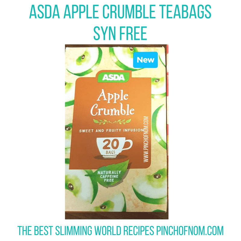 asda apple crumble teabags - new Slimming World shopping essentials