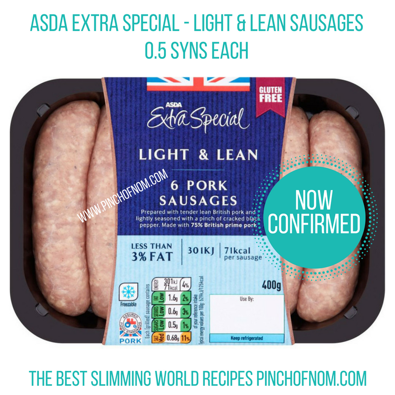 asda - light and lean-New Slimming World Shopping Essentials