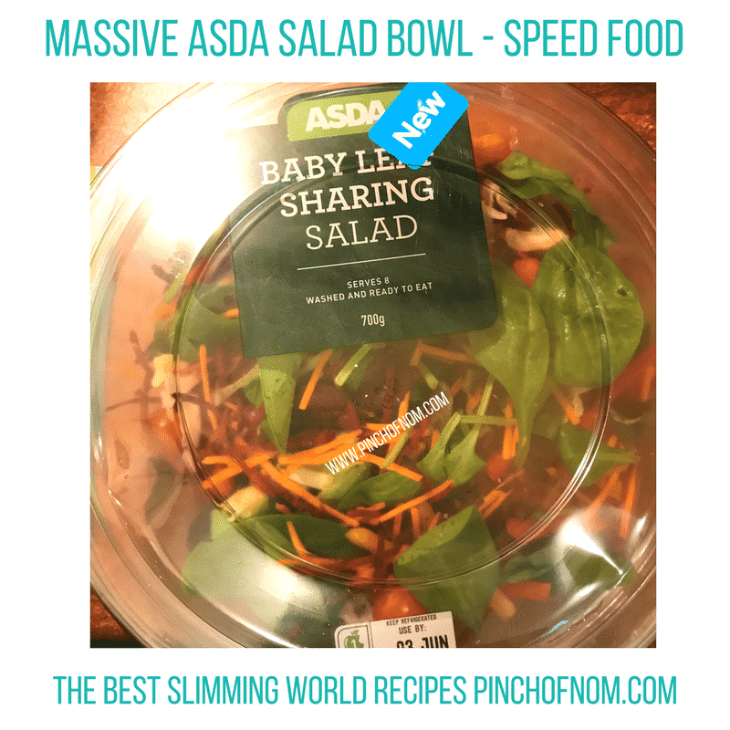 asda sharing salad New Slimming World Shopping Essentials