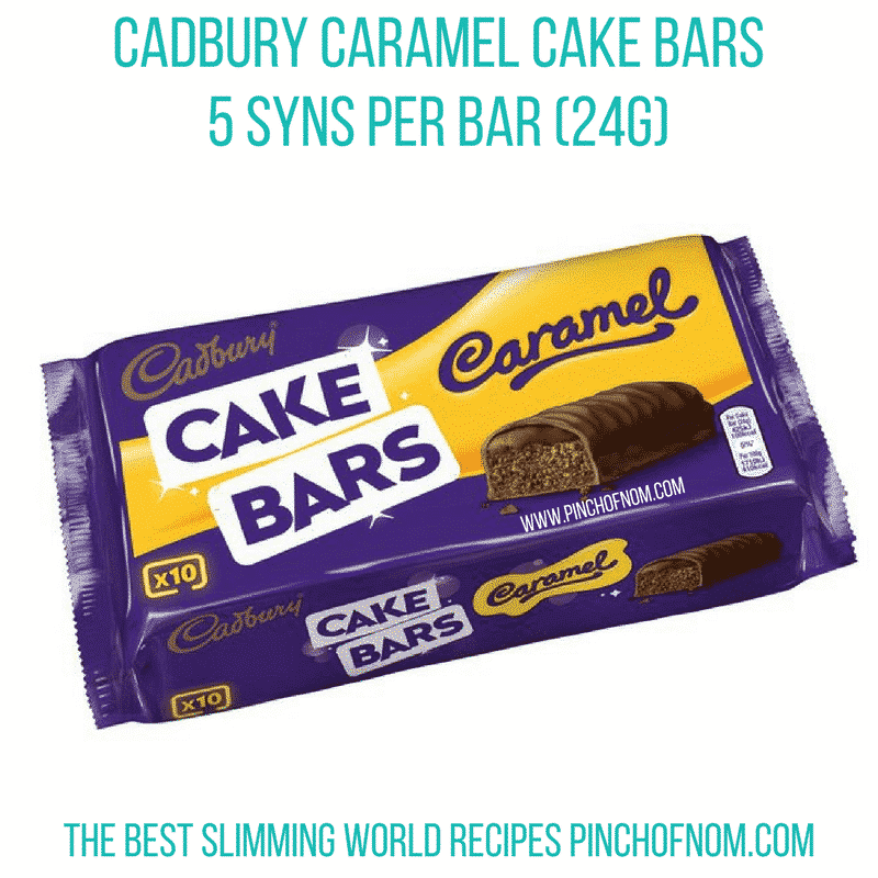 Cadbury Caramel Cake Bar Syns