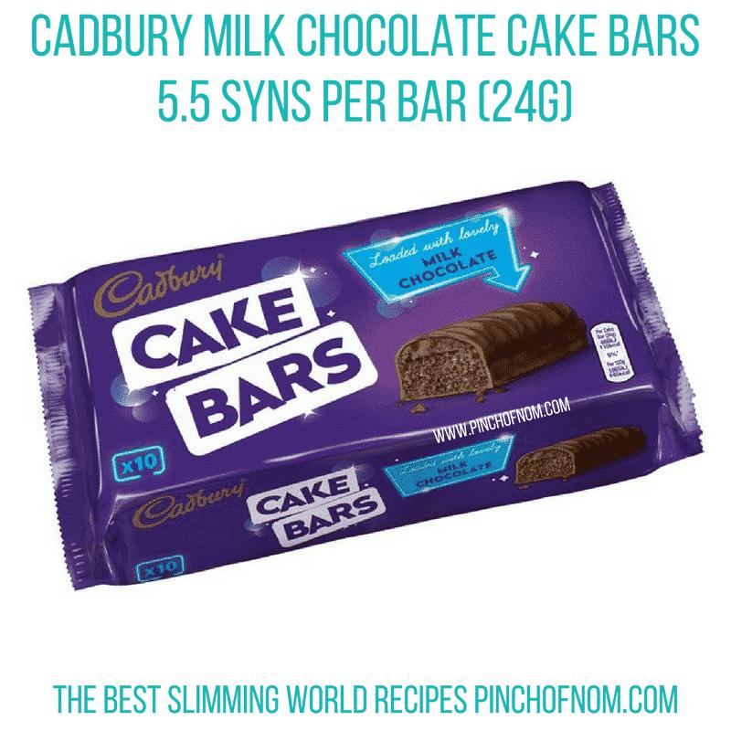 cadbury milk choc cake bar - new slimming world essentials pinch of nom