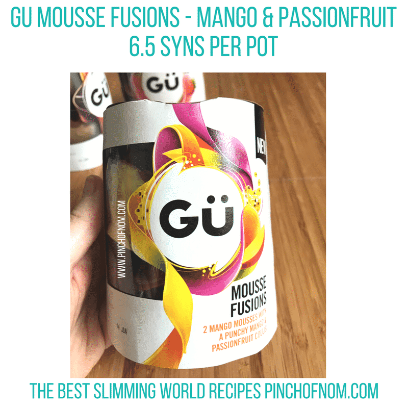 gu mousse - new Slimming World shopping essentials