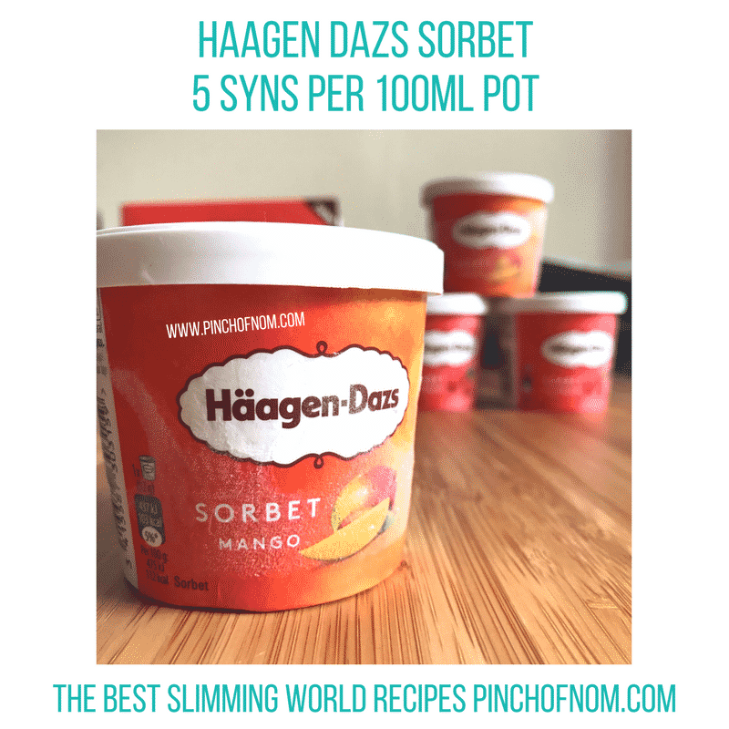 haagen dazs mango sorbet - new Slimming World shopping essentials