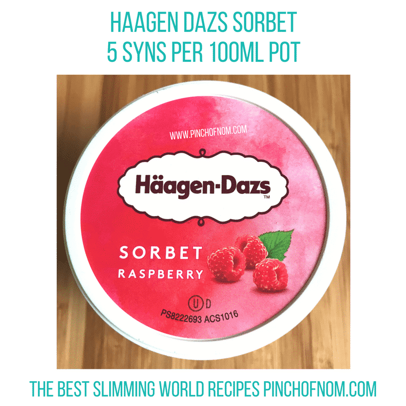 haagen dazs sorbet - new Slimming World shopping essentials