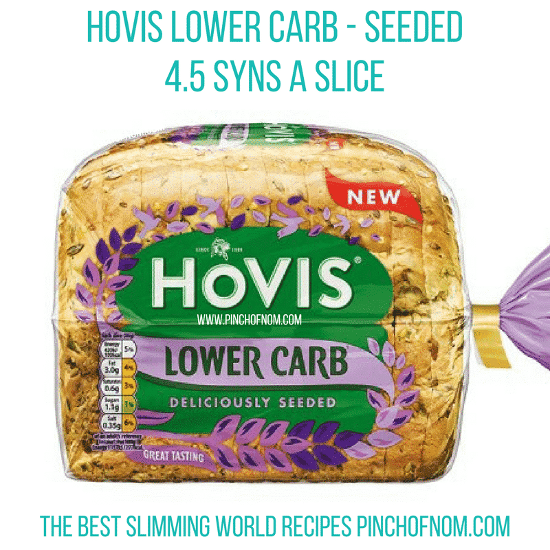 hovis lower carb seeded bread - new slimming world essentials pinch of nom