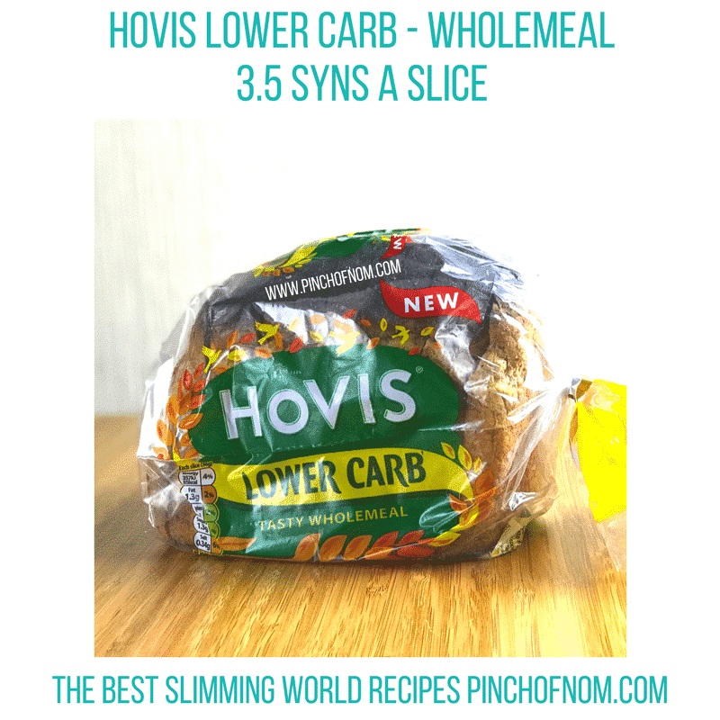 hovis lower carb wholemeal - new slimming world essentials pinch of nom