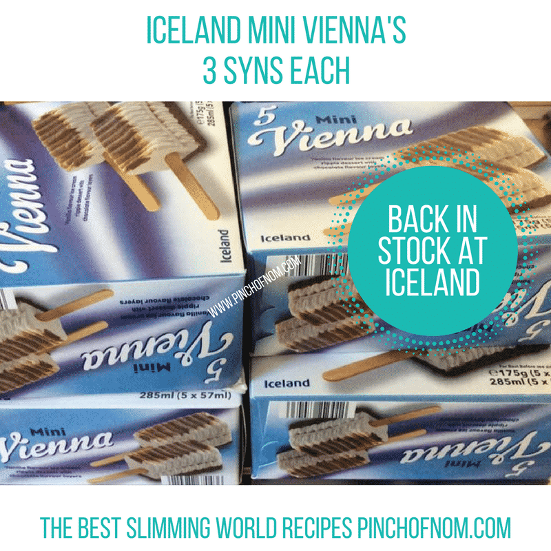 iceland viennas New Slimming World Shopping Essentials