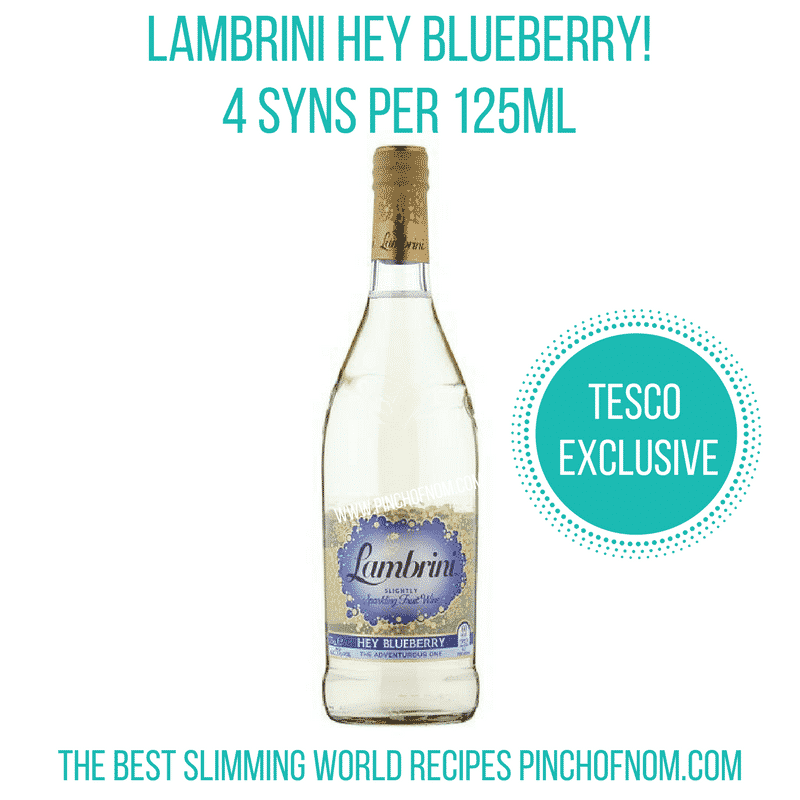 lambrini blueberry - New Slimming World Shopping Essentials - 23:6:17