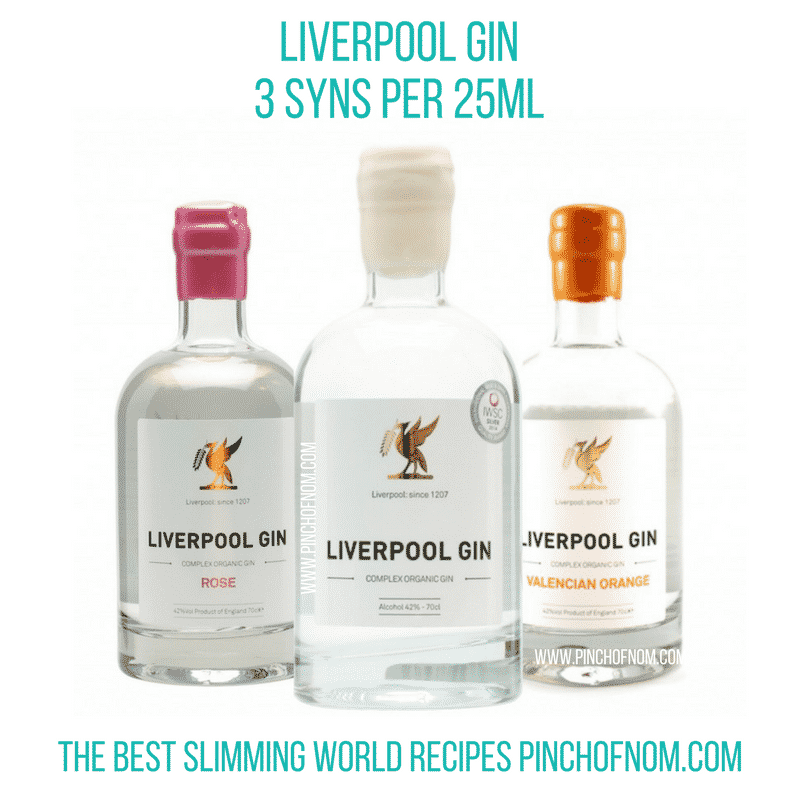 liverpool gin New Slimming World Shopping Essentials