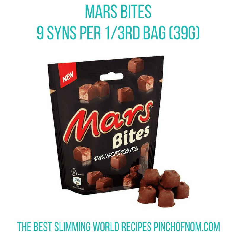 mars bites - New Slimming World Shopping Essentials - 23:6:17