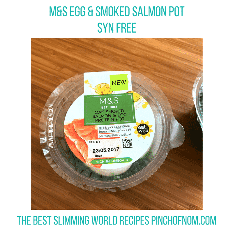 m&s egg and smoked salmon pot New Slimming World Shopping Essentials