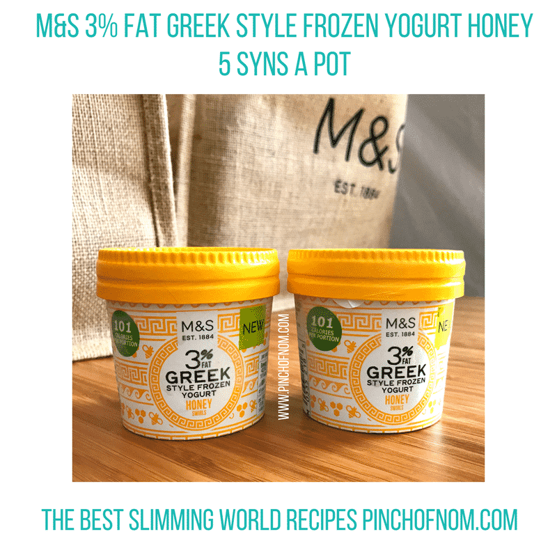m&s frozen greek yogurt New Slimming World Shopping Essentials